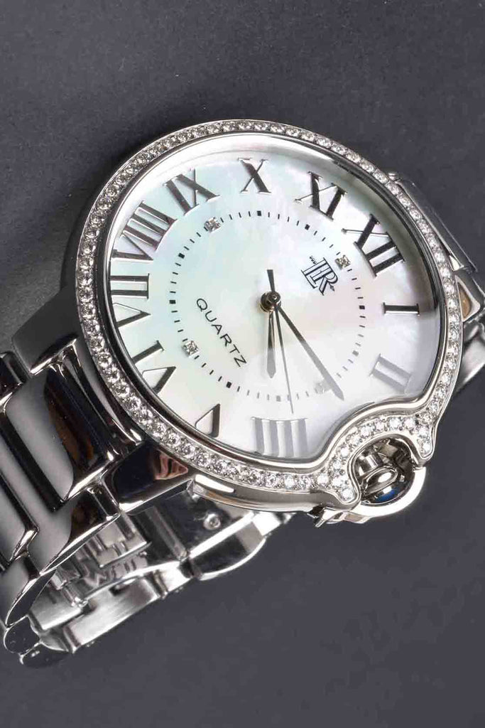 The White Mother of Pearl Pave Border Palloncino Watch