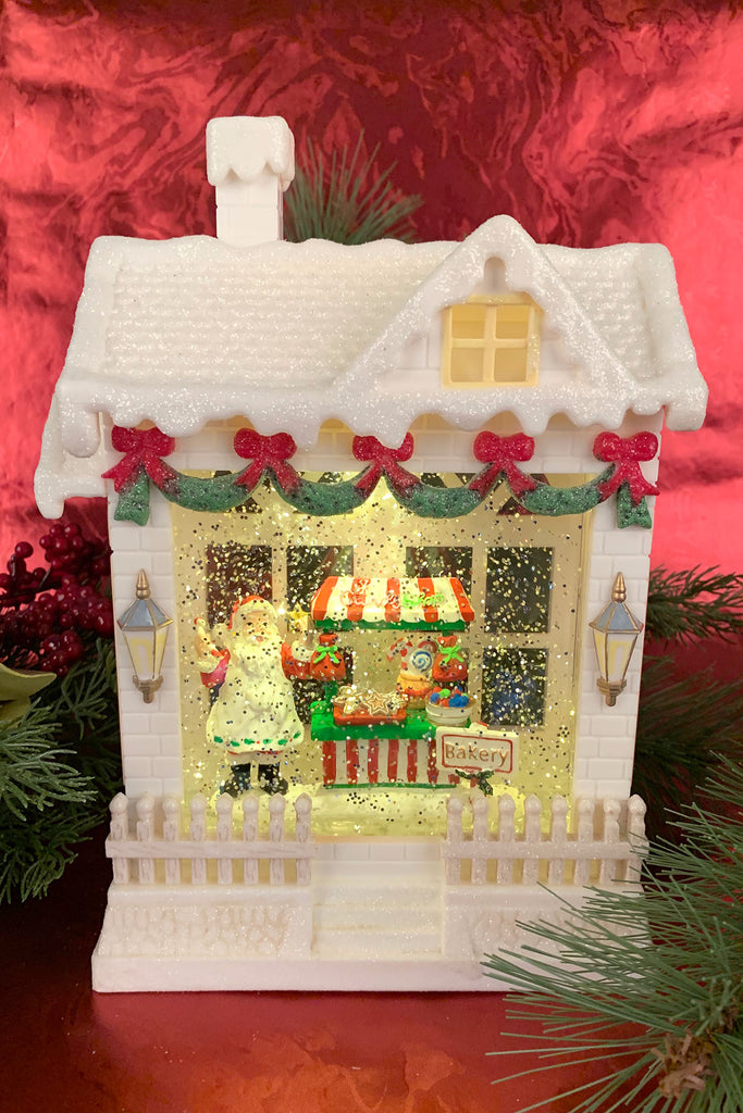 Santa's Sweet Shop Lighted Water House