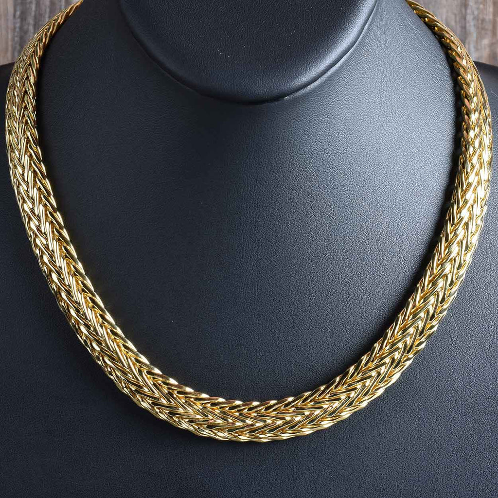 Timeless Handmade Double Wheat Necklace