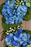 Grand Blue Hydrangea Wreath