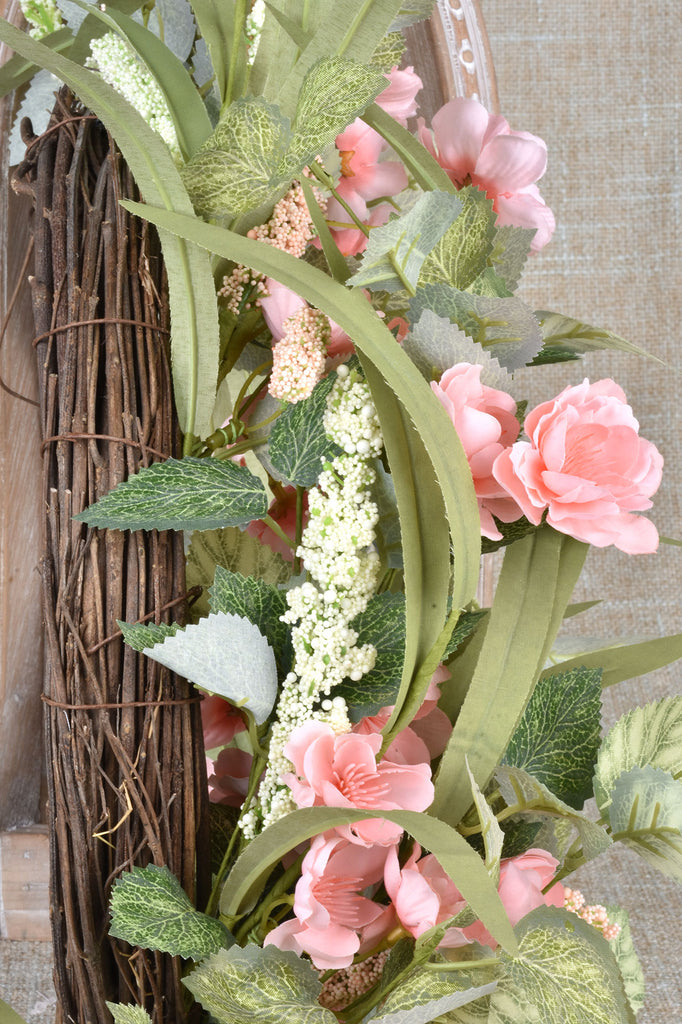 Pink Floral Wreath
