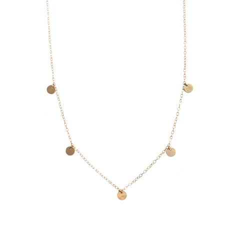 14k Sequin Necklace