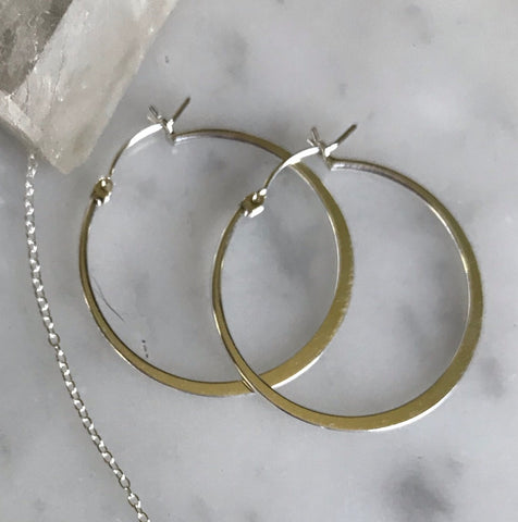 Thin Lever-Back Hoops