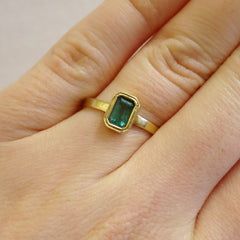 Emerald Cut Bezel Ring