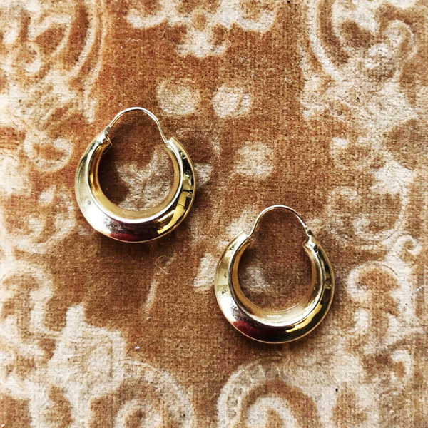 Vintage 14k Hollow Hoops
