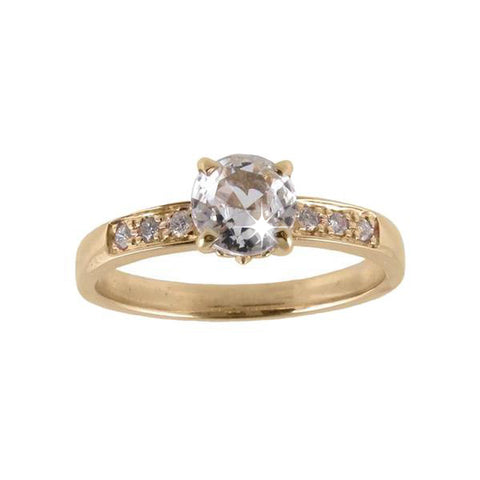 Bead Set Solitaire with Diamond