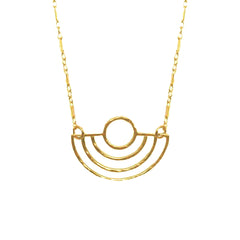 Hammered 'Deco' Circle Necklace