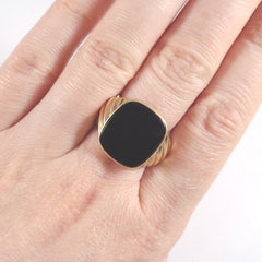 40% OFF! Deco Onyx Signet Ring