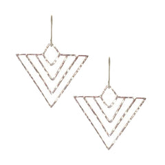 Hammered 'Deco' Triangle Earrings