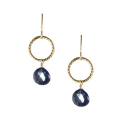 Twist Ring Earrings with Precious Stones