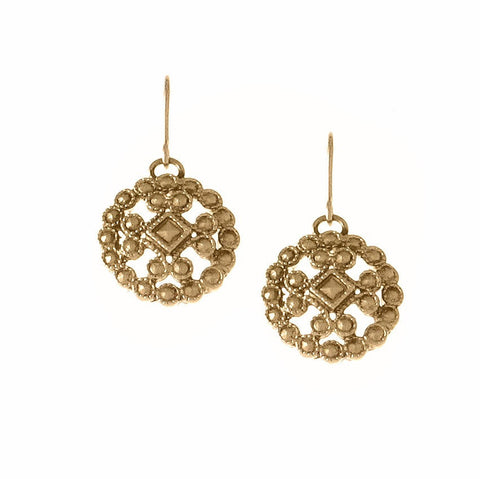 Lace Casting Earring, Post or Drop