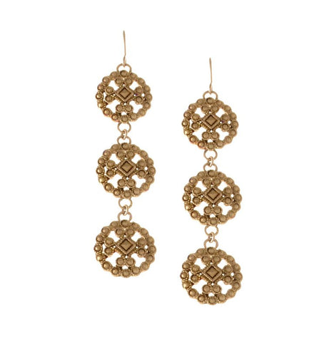 Lace Cast Trio Earring
