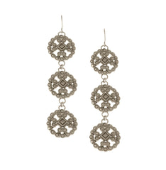 Lace Casting Trio Earring