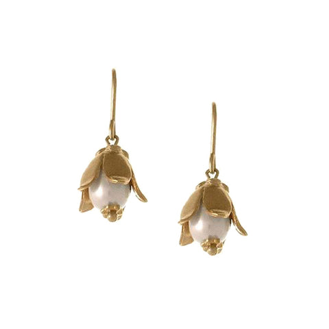 Lily Cap Earring with Pearl