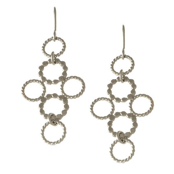 Circle Cross Earrings