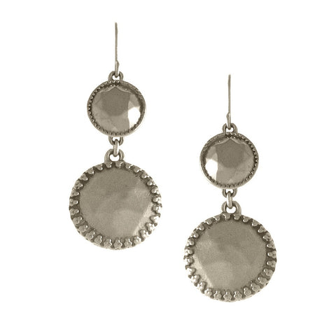 Double Faceted Setting Earrings