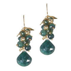 Medium Vine Earrings w. Large Briolette