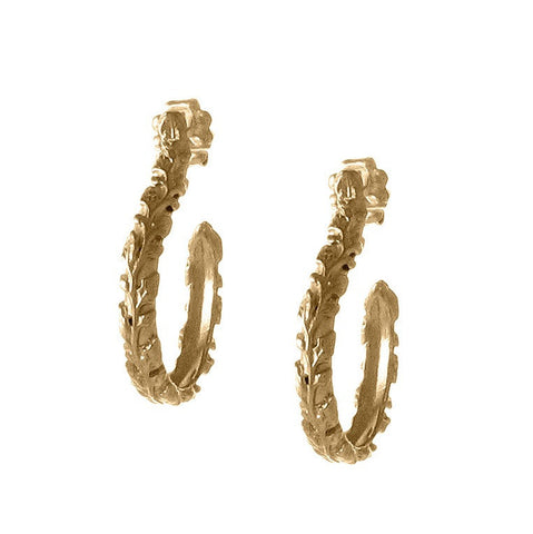 Small Victorian Vine Hoops