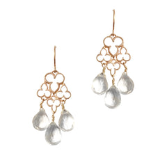 Fleur De Lis Earrings with Gemstones