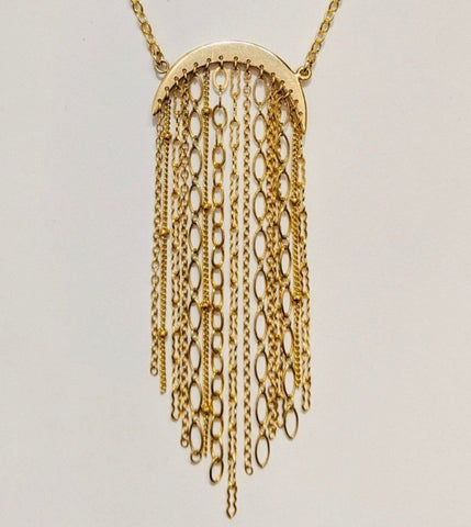 Moon Tassel Necklace