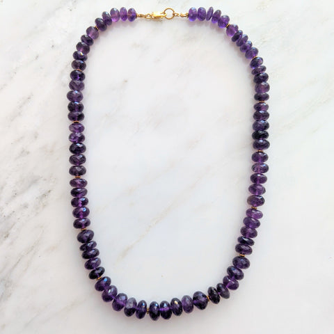 40% Off! Chunky Amethyst Beaded Necklace
