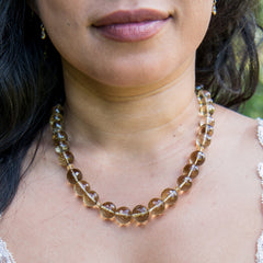 Chunky Straight Beaded Necklace