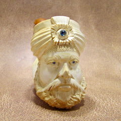 Meerschaum Pipe with Sapphire Eyes