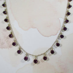 Art Deco Amethyst Fringe Necklace