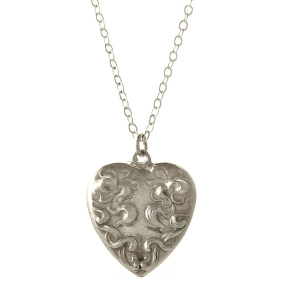 40% Off! Sterling Silver Heart Casting Necklace