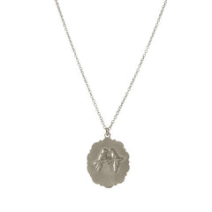 Lovebird Pendant Necklace Sterling Silver