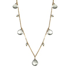 Gemstone Briolette Drop Necklace