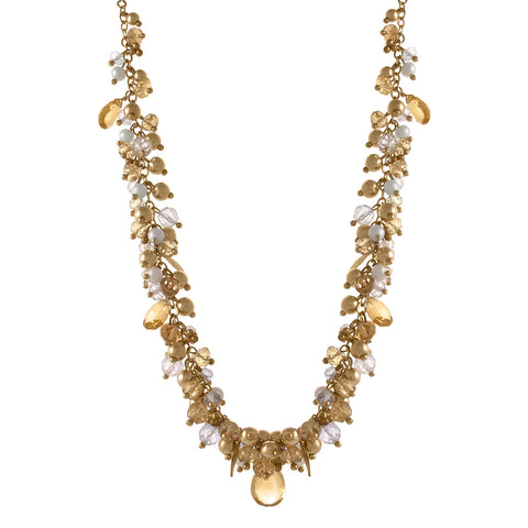 Vine Pearl Citrine Necklace