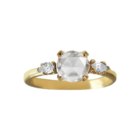 Rose Cut Diamond Trio Ring