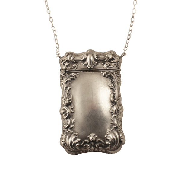 40% Off! Art Deco Silver Box Necklace