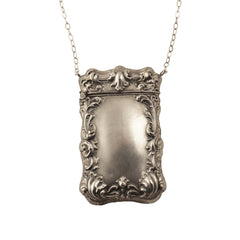Art Deco Silver Box Pendant