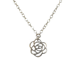 Small Rose Cutout Necklace