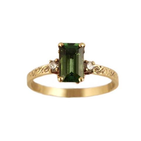 Tourmaline and Diamond Scroll Trio