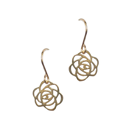 Small Rose Cutout Earrings