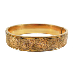 Etched Wide Bangle