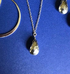 Hammered Teardrop Necklace