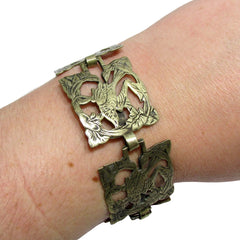 40% OFF! Vintage Silver and Nickel Bird Cutout Bracelet