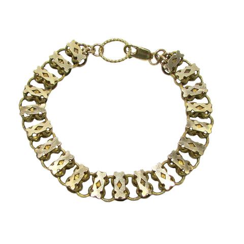 Victorian 14k Gold Fill Book Chain Bracelet