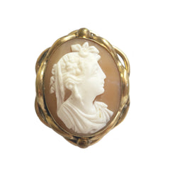 40% Off! Antique Shell Cameo Brooch