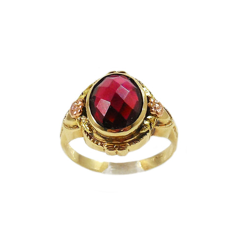 Victorian Checkerboard Garnet Ring