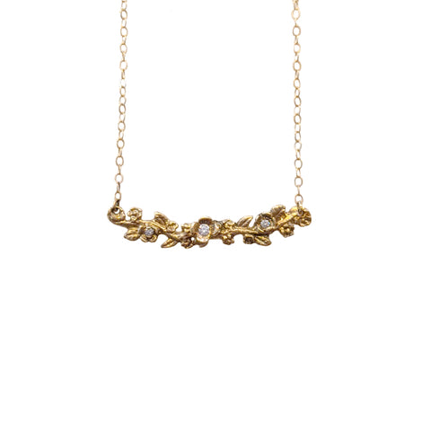 14k Garland Necklace with Diamonds