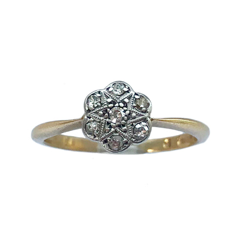 Edwardian Mixed Metal Cluster Ring