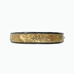 Antique Gold and Enamel Bangle