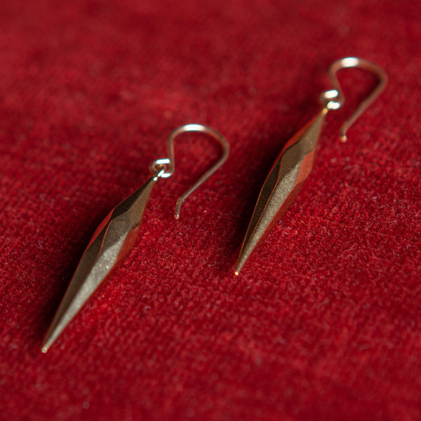 Faceted Spear Drop Earrings