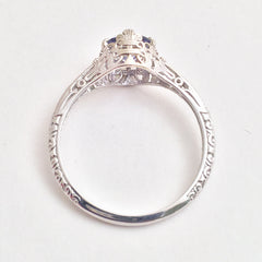 Filigree Style Engagement Ring