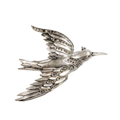 Art Deco Hummingbird Brooch